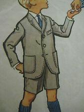 Vintage 50s McCalls 4814 Boys JACKET w/ LONG or SHORT PANTS Sewing Pattern Sz 12