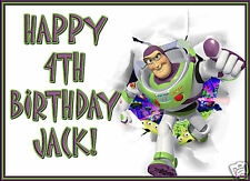 PERSONALISED BUZZ LIGHTYEAR BIRTHDAY CARD ANY AGE/NAME