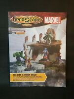 Heroscape Marvel Heros Iron Man Thanos Hulk City Is Under Siege Game Guide Book