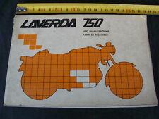 MANUALE USO MANUTENZIONE E PARTI DI RICAMBIO MOTO LAVERDA 750 SF E GT OLD ITALY