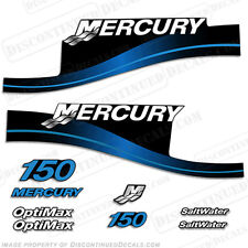 Mercury 150hp Optimax Saltwater Series Outboard Decal Kit 1999-2004 - Blue