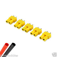 5 X FEMALE XT30 LIPO BATTERY CONNECTORS & HEATSHRINK RC PLANE HELI 250 QUAD UK