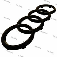 Logo Rings Emblem Black Gloss Front grille for audi 273x95 a1 a3