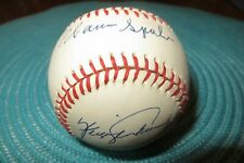 Fergie Jenkins and Warren Spahn Signed Autographed Baseball in Ball Case