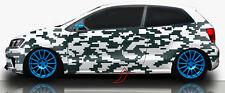 2x Camouflage Seitenaufkleber Digital Dekor Autotattoo Auto Aufkleber Set #82