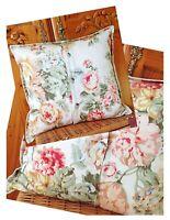 """Ralph Lauren Floral Pillows Feather Down Chintz Velvet Cotton Farmhouse Chic 17"""""""