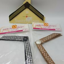 Switchflops Straps Lot 3 M 7 8 Brown Polka Dot Black Houndstooth