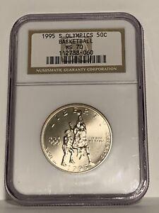 1995-S Olympic Basketball Half Dollar NGC MS70