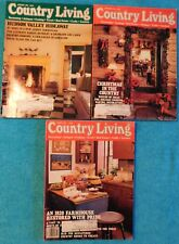 Lot of 3 Country Living Magazines from 1991 & 1992