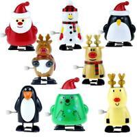 8pcs/set Wind Up Kids Educational Toys Clockwork Walking Toys Xmas Decor Gift