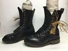 VTG MENS RED WING MILITARY BLACK BOOTS SIZE 9.5 E