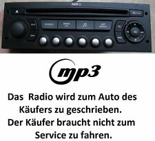RADIO STEREO  RD4 N2 MP3  207 307 807 PARTNER CITROEN C2 C3 C8 BERLINGO JUMPER