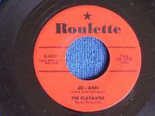The Playmates/Jo-Ann & You Can't Stop Me from Dreaming/Roulette R-4037/EX+ to M-
