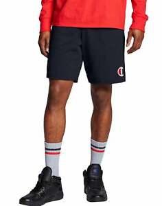 Champion Jersey Shorts Men Athletics Classic C Logo Side Pockets Drawcord Cotton