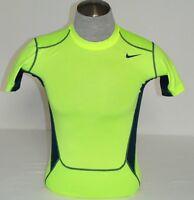 Nike Pro Combat Dri Fit Volt Short Sleeve HyperCool Compression Shirt Mens NWT