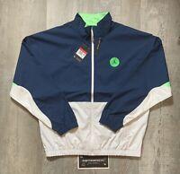 Jordan Nike Legacy AJ13 Jacket Men's Size Large Blue White Green CW0837-414 $250