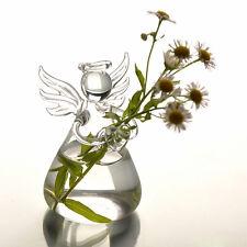 Cute Glass Angel Shape Flower Plant Hanging Vase Home Office Wedding Decor