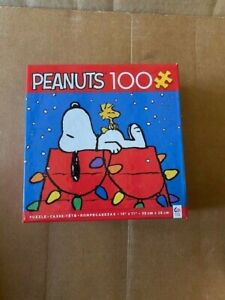 CEACO Peanuts 100 Piece Puzzle Snoopy & Woodstock Christmas Lights  USA (NEW)