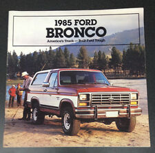 1985 Ford Bronco Brochure XLT 4x4 Original