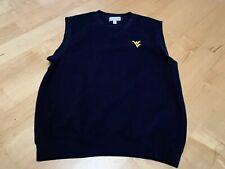 Cutter & Buck Sweater Vest Golf Navy Pullover V Neck Mens M West Va University