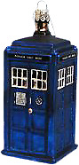"Doctor Who--Doctor Who - TARDIS 4.25"" Glass Xmas Ornament"