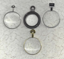 2 Prism and 2 Magnifying type trial or optical lenses.. Gold, Silver & Frames