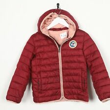 Vintage Kinder Mädchen Napapijri Puffer Mantel Jacke Rot 8 Jahre Grad B