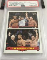 The Brain Busters 2012 Heritage Wwe Topps Card Fabled Tag Teams #2 Psa 10