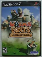 WORMS FORTS UNDER SIEGE PS2 SONY PLAYSTATION 2 GAME  *