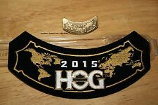 2015 Hog Patch and Pin Harley Davidson Owners Group Member Rocker HD MC Club XXX
