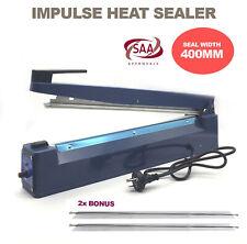 400mm Hand Element Plastic Poly Bag Heat Impulse Sealer Sealing Machine