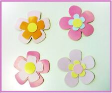 Set of 4 Girls Nursery 3D Large Flowers Wall Stickers Decoration Wall