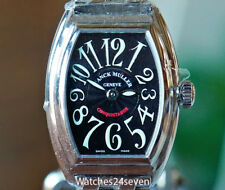 Franck Muller Ladies Conquistador Quartz Black Dial on Bracelet RETAIL $11,700