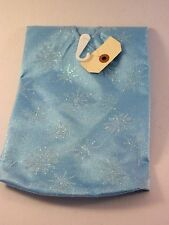 20 IN Turquois White GlitterSnowflake MINI TABLE TREE SKIRT CHRISTMAS DECORATION