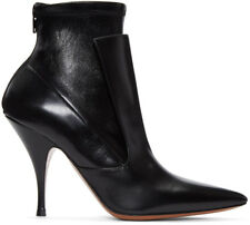 Givenchy Black Leather Ankle Booties Small Heel Pointy Toe Boots 37- 6.5 Booties
