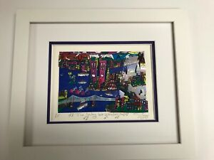 """Stephan Shrem 3-D Artwork """" The Way We Were """" Signed & Numbered Like James Rizzi"""