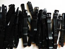 Lot 100 Bracelet Montre/Watch Bands PVC 12 mm Noir Boucle PVC Neuf !!