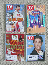 Lot of 4 TV Guides - 1996-2002:  Friends, Nascar Tony Stuart, 1996 Fall Preview