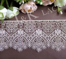 9 cm width Beautiful Ivory Venise Lace Trim