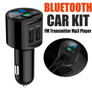Transmetteur FM Bluetooth Adaptateur Voiture Allume Cigare Port 2USB Main Libre