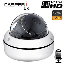 5MP IP CCTV IR Network Surveillance Dome Camera 1920P UltraHD Built-in Mic Audio