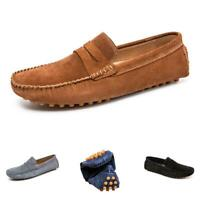 Mens Pumps Slip on Loafers Soft Flats Breathable Comfy Driving Moccasins Shoes D