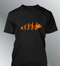 Tee shirt personnalise homme evolution M L XL humour moto human bike motorcycle