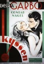 OLD MOVIE PHOTO The Kiss Poster Greta Garbo Lew Ayres 1929