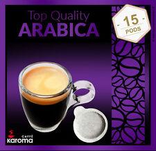 15 Italian Espresso Pods ESE(Top Quality 100% Arabica. (Karoma) (Non GMO)