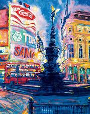 Roy Avis : Piccadilly Cirque, Londres Tableau Prêt 40x50