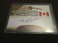 MICHAEL PECA 2010 Upper Deck World Of Sports AUTO #98