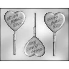 Mother's Day Heart Chocolate Lollipop Candy Mold CK #13721