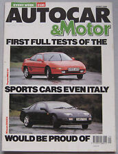 Autocar 16/5/1990 featuring Nissan 300ZX, Ferrari Dino V6 Engine, Toyota MR2