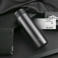 Black Gray Water Bottle Stainless Steel Vacuum Cup Thermos Flasks Insulation Cup